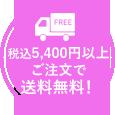 税込5,400円以上ご注文で送料無料!